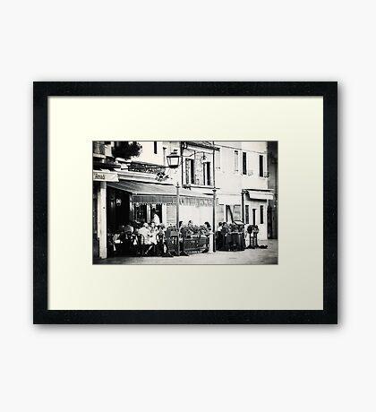 Local Ristorante Framed Print