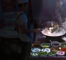 Preparing street food in Thailand 2 by faceart