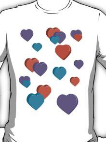 3D Hearts T-Shirt