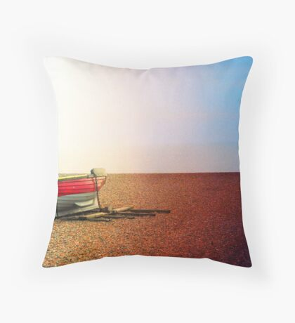 Lone Boat Throw Pillow