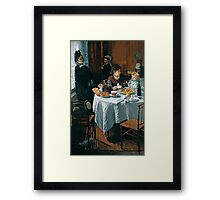 The Luncheon - Claude Monet - 1868 Framed Print