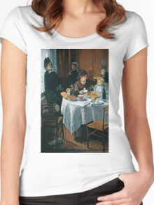 The Luncheon - Claude Monet - 1868 Women's Fitted Scoop T-Shirt