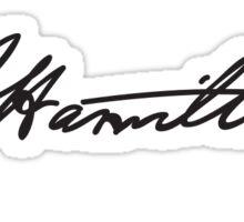 Alexander Hamilton's Signature Sticker