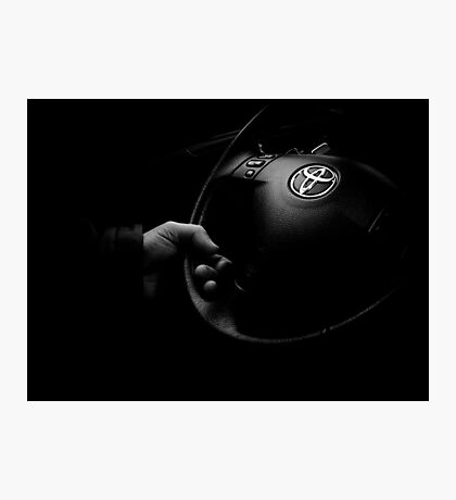 HIS HAND IS ON THE WHEEL Photographic Print