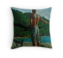The Man and the Seabirds 7 Throw Pillow