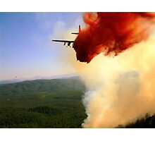 Air Tanker 44 dropping retardant on the eastern edge of the Promontory Fire. Photographic Print