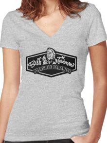 Biff Tannen's Pleasure Paradise Women's Fitted V-Neck T-Shirt