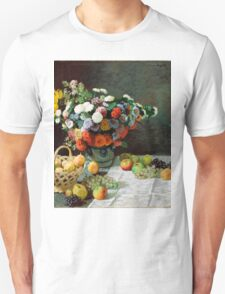 Still Life with Flowers and Fruit * Claude monet - 1869 T-Shirt