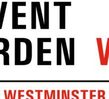 Covent Garden, Street Sign, London, UK Sticker