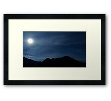 Full Moon and Sleeping Indian Framed Print