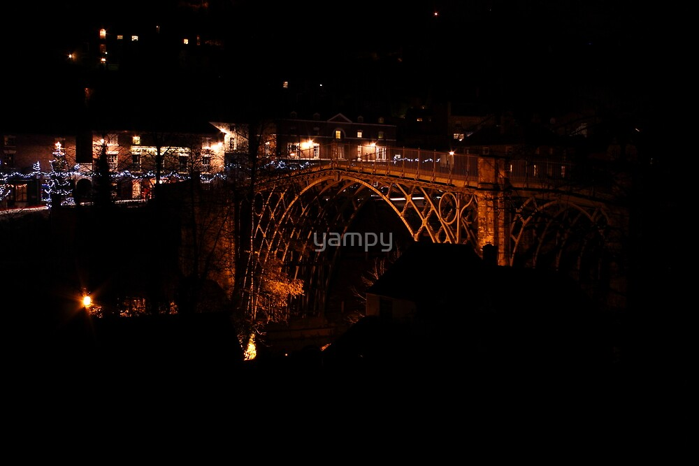 Iron Bridge in the dead of night by yampy