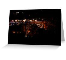 Iron Bridge in the dead of night Greeting Card