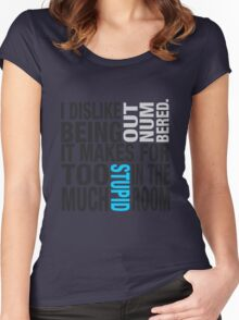 Sherlock quote se2 typography Women's Fitted Scoop T-Shirt