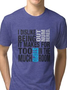 Sherlock quote se2 typography Tri-blend T-Shirt