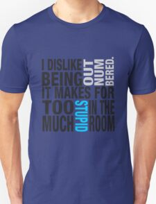 Sherlock quote se2 typography T-Shirt