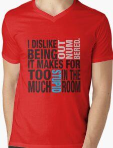 Sherlock quote se2 typography Mens V-Neck T-Shirt