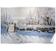 The Magpie - Claude Monet - 1869 Poster