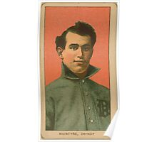 Benjamin K Edwards Collection Matty McIntyre Detroit Tigers baseball card portrait 001 Poster