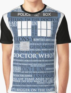Dr. Who Whovian fans Graphic T-Shirt