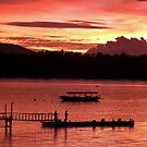 Lombok Pier Fishermen by Anthony Evans
