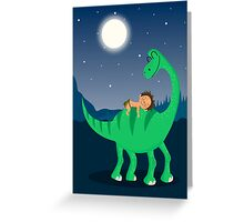 Arlo the good dinosaur night Greeting Card