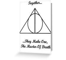 Harry Potter & The Deathly Hallows Poster Greeting Card