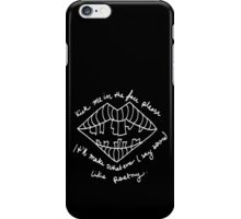 LIPSTICK COVERED MATTRESS iPhone Case/Skin
