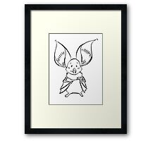 Cute Bat Framed Print