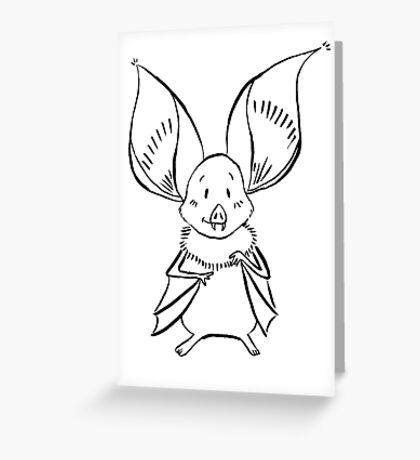 Cute Bat Greeting Card