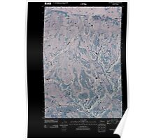 USGS Topo Map Washington State WA Lone Pine Butte 20110407 TM Inverted Poster