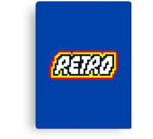 Retro | 8 Bit 80s Geek Canvas Print