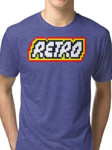 Retro | 8 Bit 80s Geek Tri-blend T-Shirt