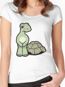 Tort-ally Naked Tortoise Women's Fitted Scoop T-Shirt