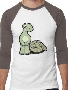 Tort-ally Naked Tortoise Men's Baseball ¾ T-Shirt