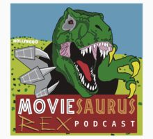 The Moviesaurus Rex Podcast Cover Art Kids Tee