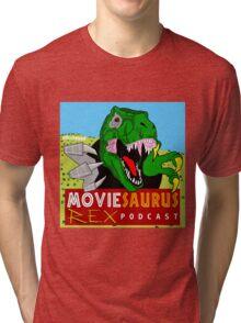 The Moviesaurus Rex Podcast Cover Art Tri-blend T-Shirt