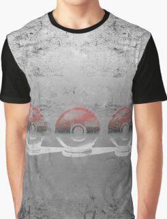 Pokemon - 3 Pokeballs (Colour) Graphic T-Shirt