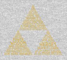 Legend of Zelda Typography One Piece - Long Sleeve