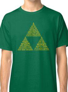 Legend of Zelda Typography Classic T-Shirt