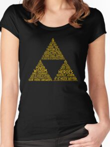 Legend of Zelda Typography Women's Fitted Scoop T-Shirt