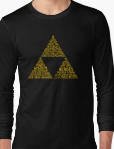 Legend of Zelda Typography Long Sleeve T-Shirt