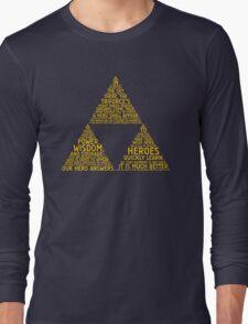 Legend of Zelda Typography Long Sleeve T-Shirt