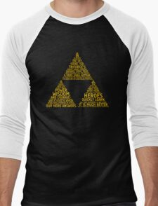 Legend of Zelda Typography Men's Baseball ¾ T-Shirt