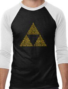 Legend of Zelda Typography Men's Baseball ¾ T-Shirt