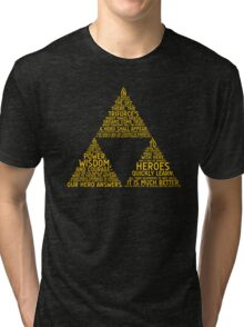 Legend of Zelda Typography Tri-blend T-Shirt