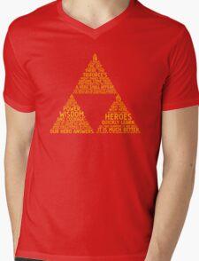 Legend of Zelda Typography Mens V-Neck T-Shirt