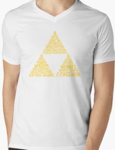 Legend of Zelda Typography Mens V-Neck T-Shirt