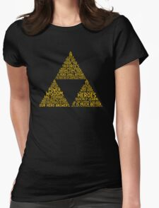 Legend of Zelda Typography Womens Fitted T-Shirt