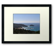 'Headland' coast at 'Smoky Bay' New South Wales. Framed Print