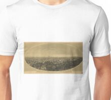 Vintage Pictorial Map of Los Angeles CA (1888) Unisex T-Shirt